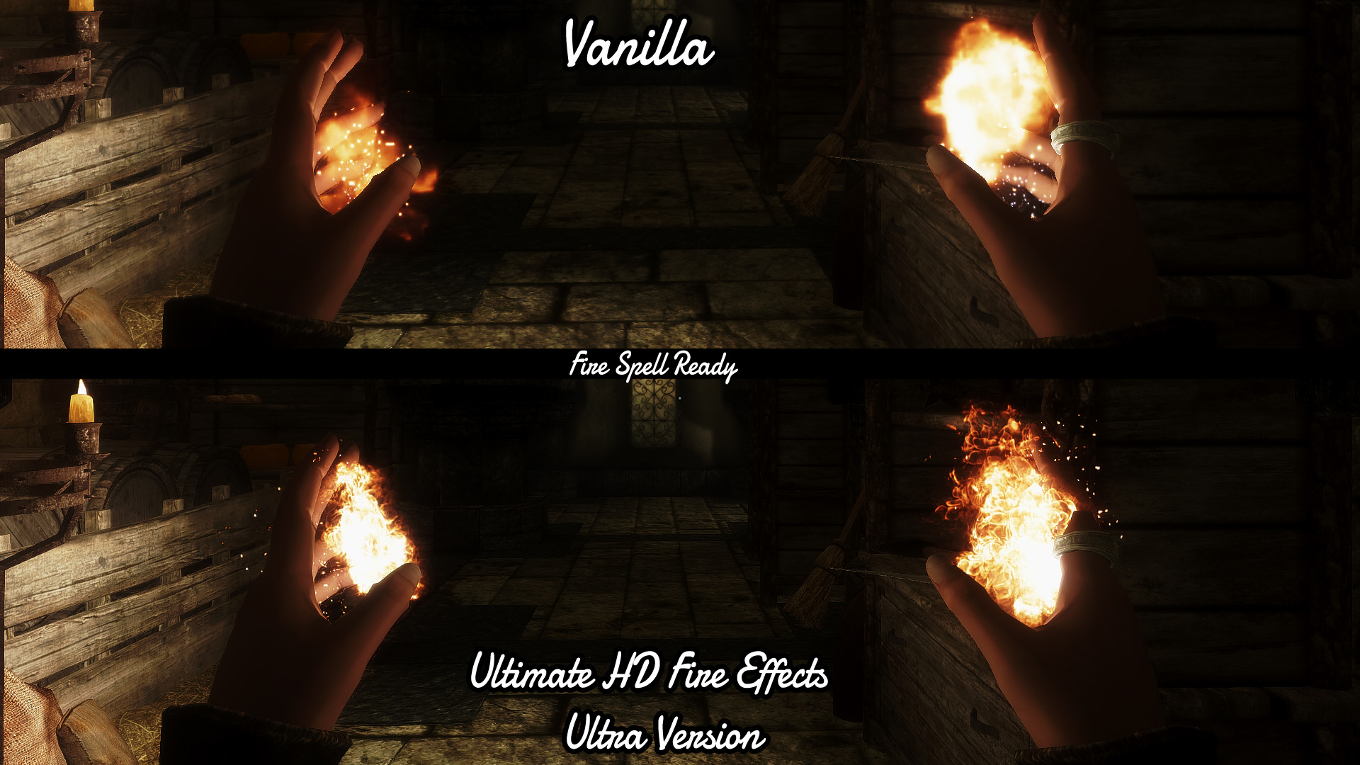 ultimate hd fire effects at skyrim nexus mods and community