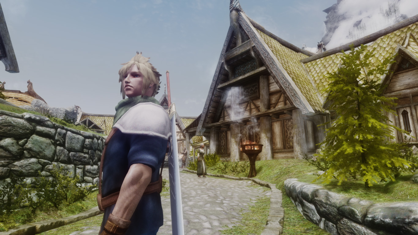 cloud   final fantasy 7cc clothes and hairstyle at skyrim nexus   mods