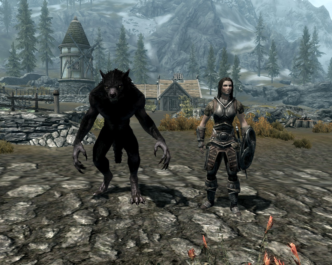 how to change from werewolf in skyrim