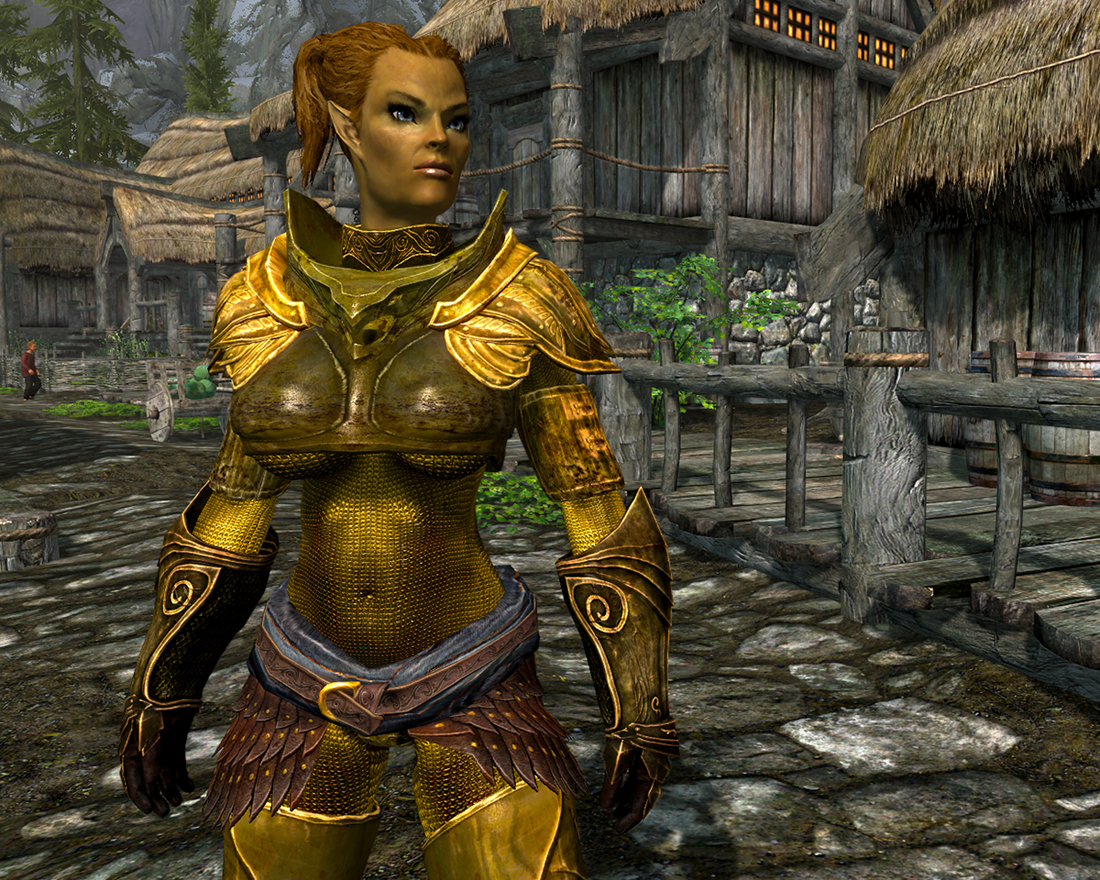 Sleek Elven Armor Replacers for UNP-UNPB-CBBE - WIPv4 at Skyrim
