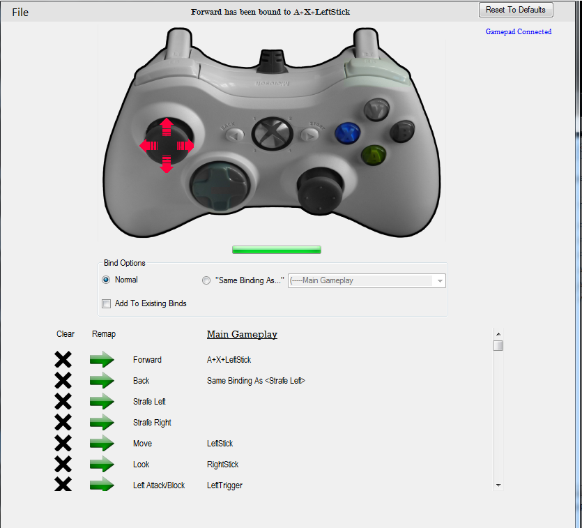 Xbox 360 Controller Remapper With Controller Input At