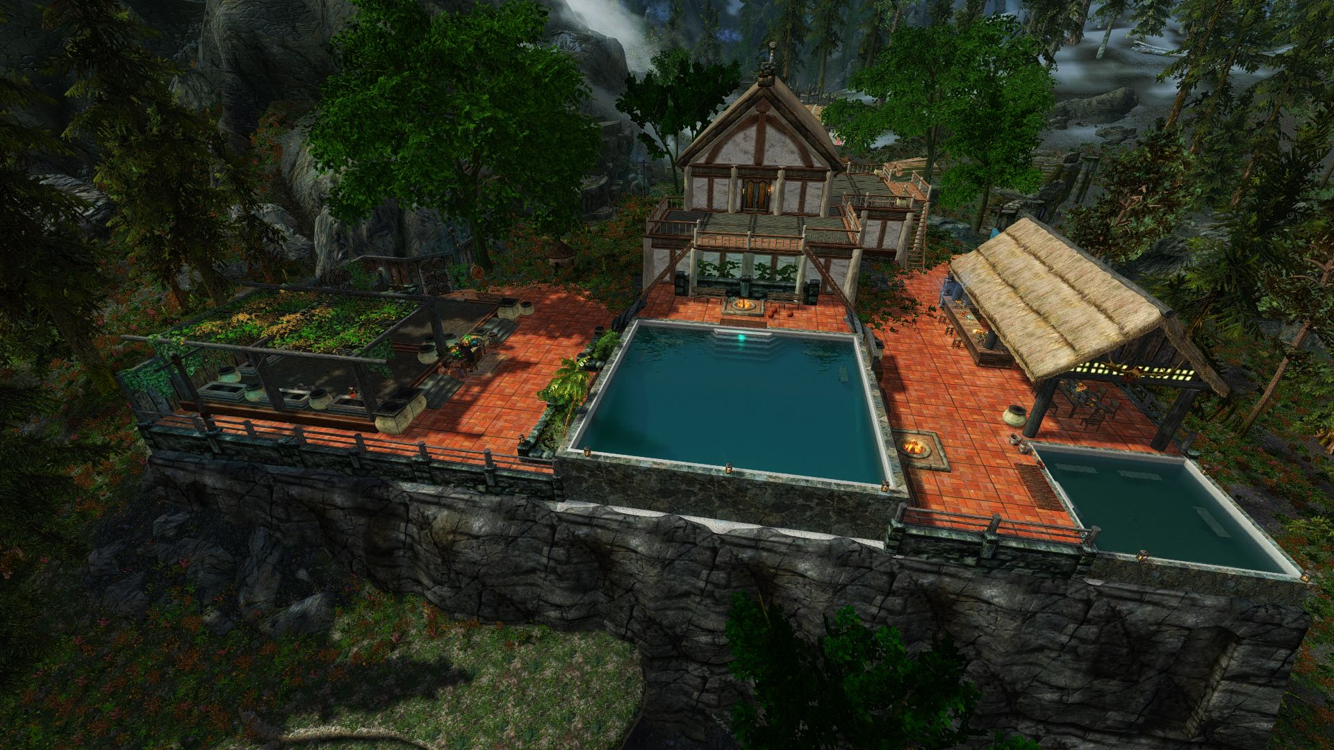 Lakeview Manor Avant Garden EX For Hearthfire At Skyrim Nexus   Mods And  Community