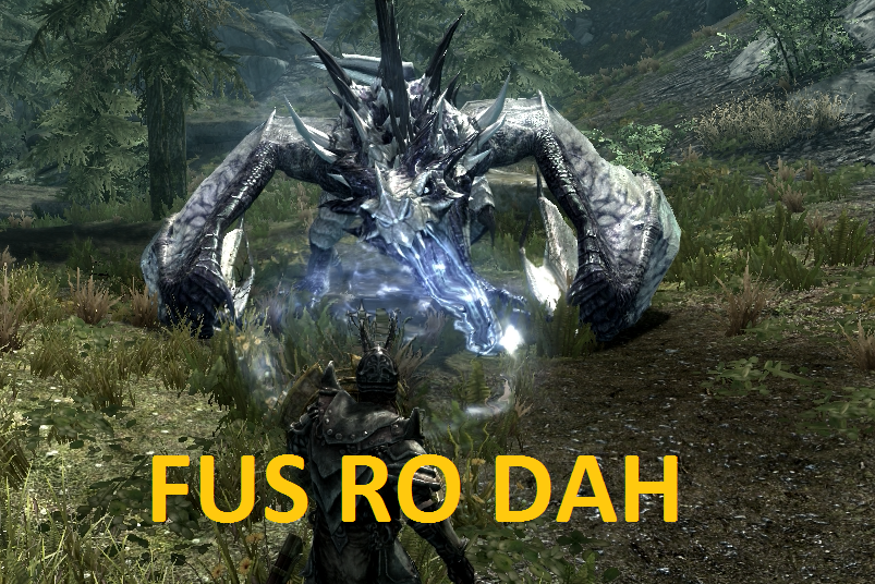 The Dragon Says Fus Ro Dah At Skyrim Nexus
