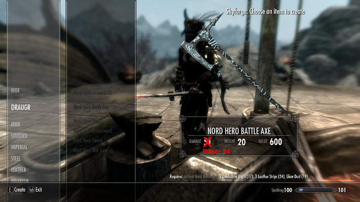 Nord hero weapon buffs and honed and supple versions at skyrim nexus