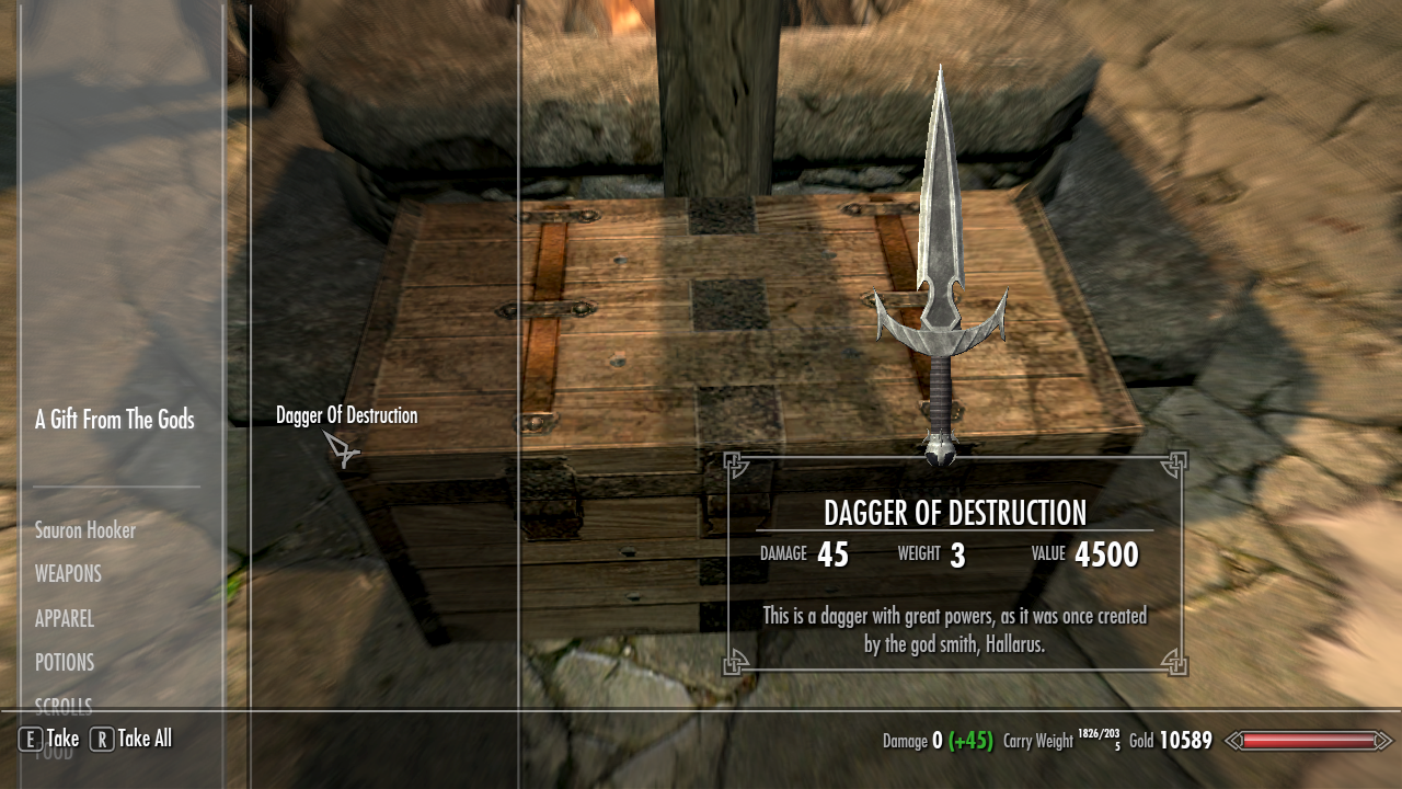 Dagger of destruction at skyrim nexus mods and community