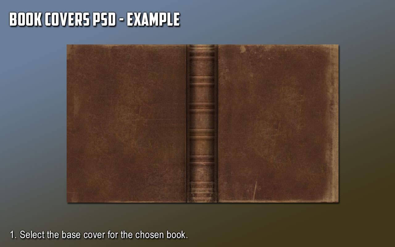 Old Book Cover Psd : Book covers psd modders resource at skyrim nexus mods
