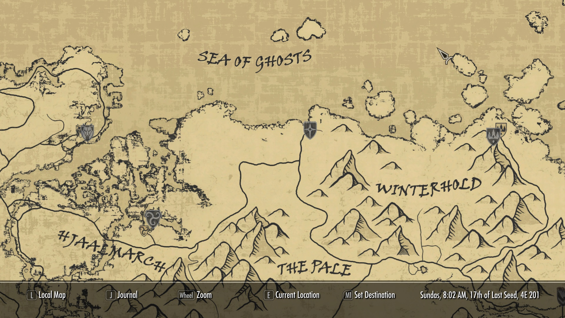 A Quality World Map and Solstheim Map - With Roads at Skyrim Nexus ...