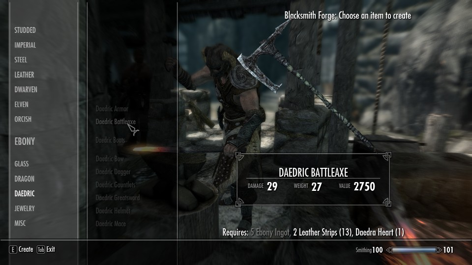 skyrim how to change damage on weapons