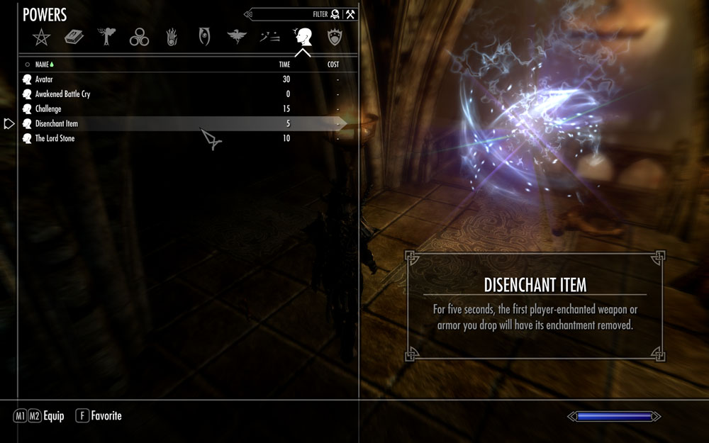 skyrim how to forget enchantments
