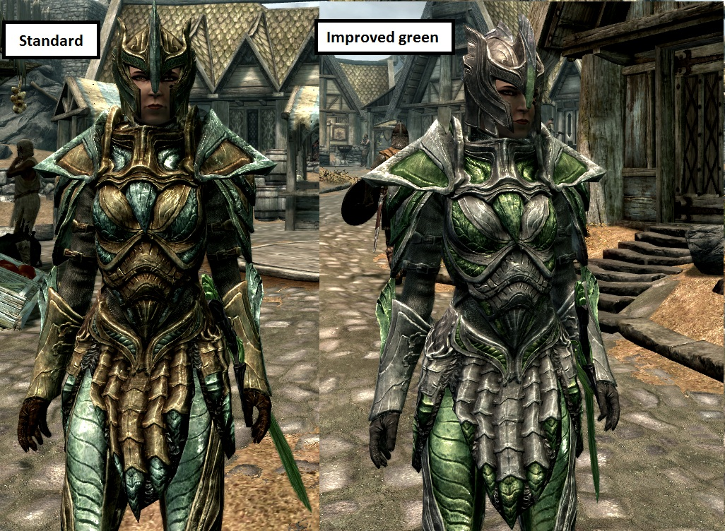 A highres 2048x Glass armor and weapons retex by Devalinor