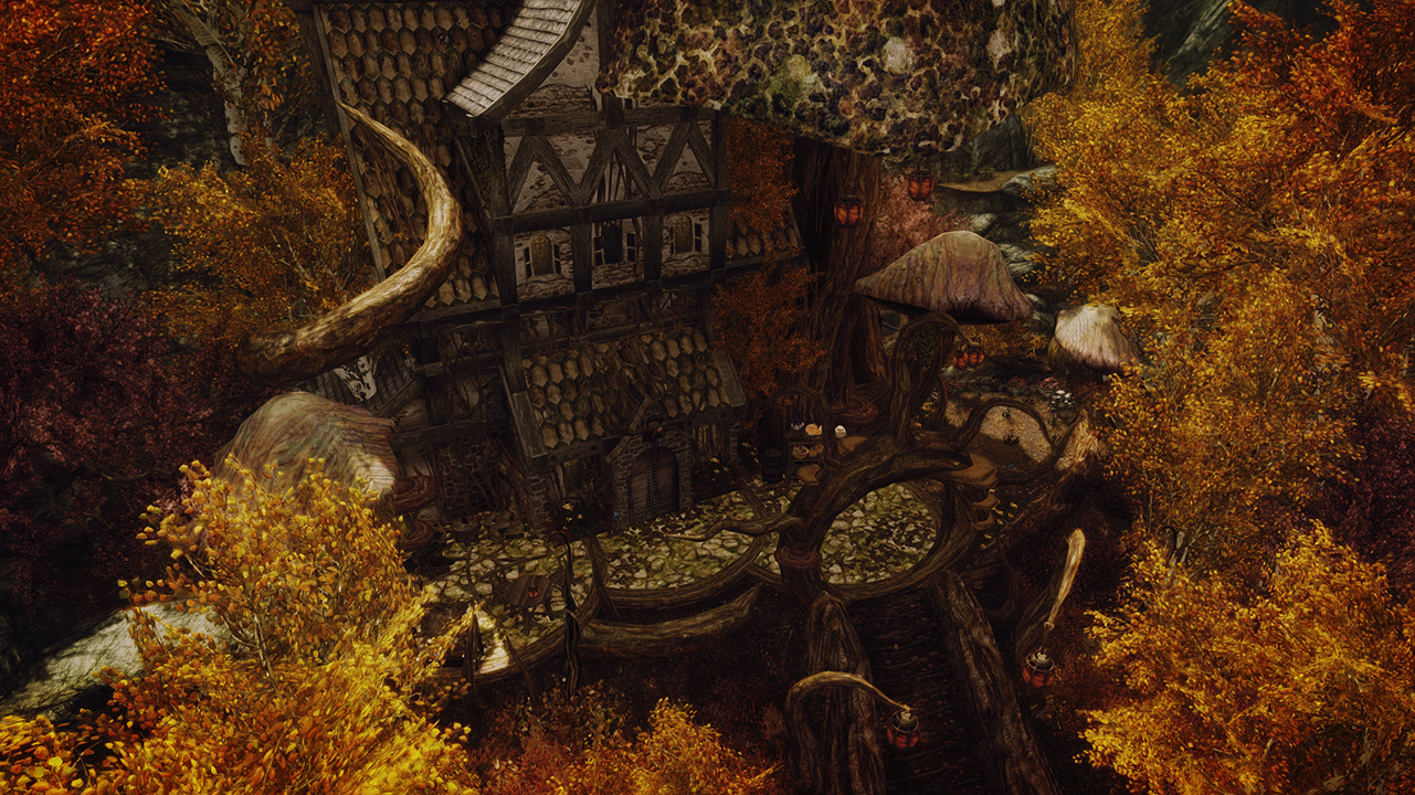 House for witches and druids mielikki at skyrim nexus for Best house designs skyrim