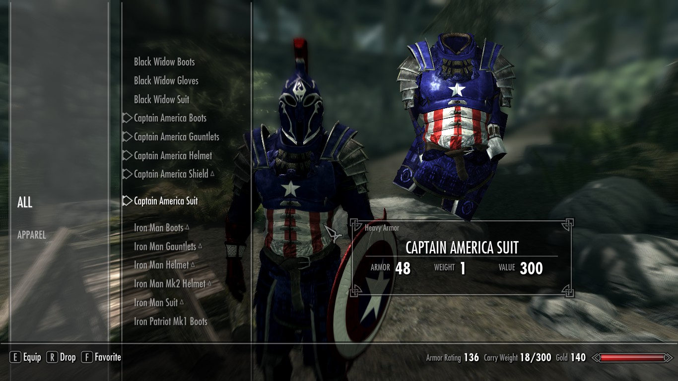 Captain America Follower At Skyrim Nexus
