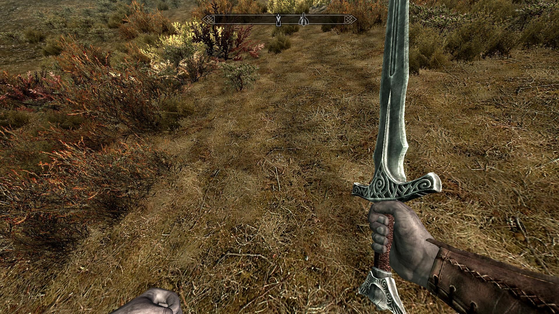 HQ Leather Handle Steel Sword Re-Texture at Skyrim Nexus ...