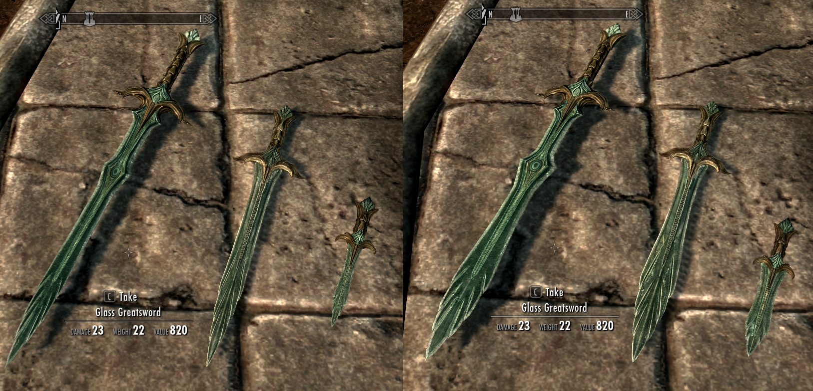 Skyrim Elven Greatsword Narrow glass and elven swords at skyrim nexus ...