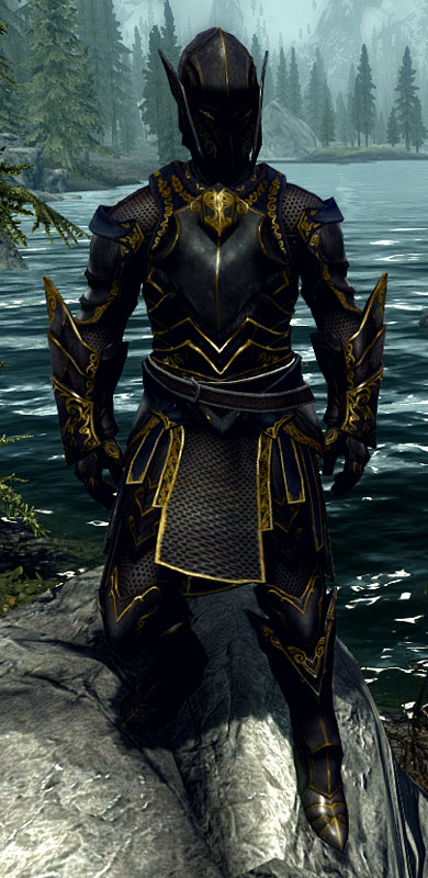 where to find ebony armor in skyrim