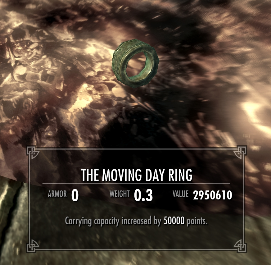 FSS The Moving Day Ring at Skyrim Nexus mods and munity