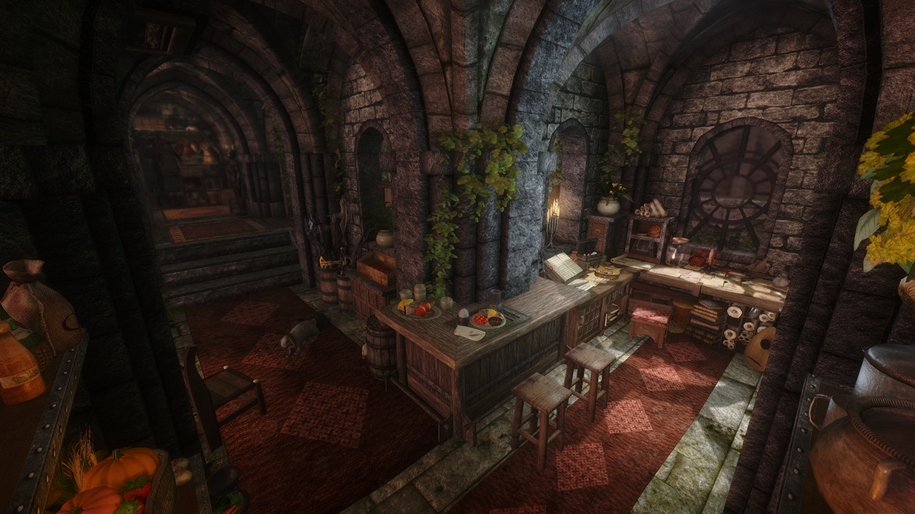 The Rookery Bard And Thief Loft In Solitude At Skyrim