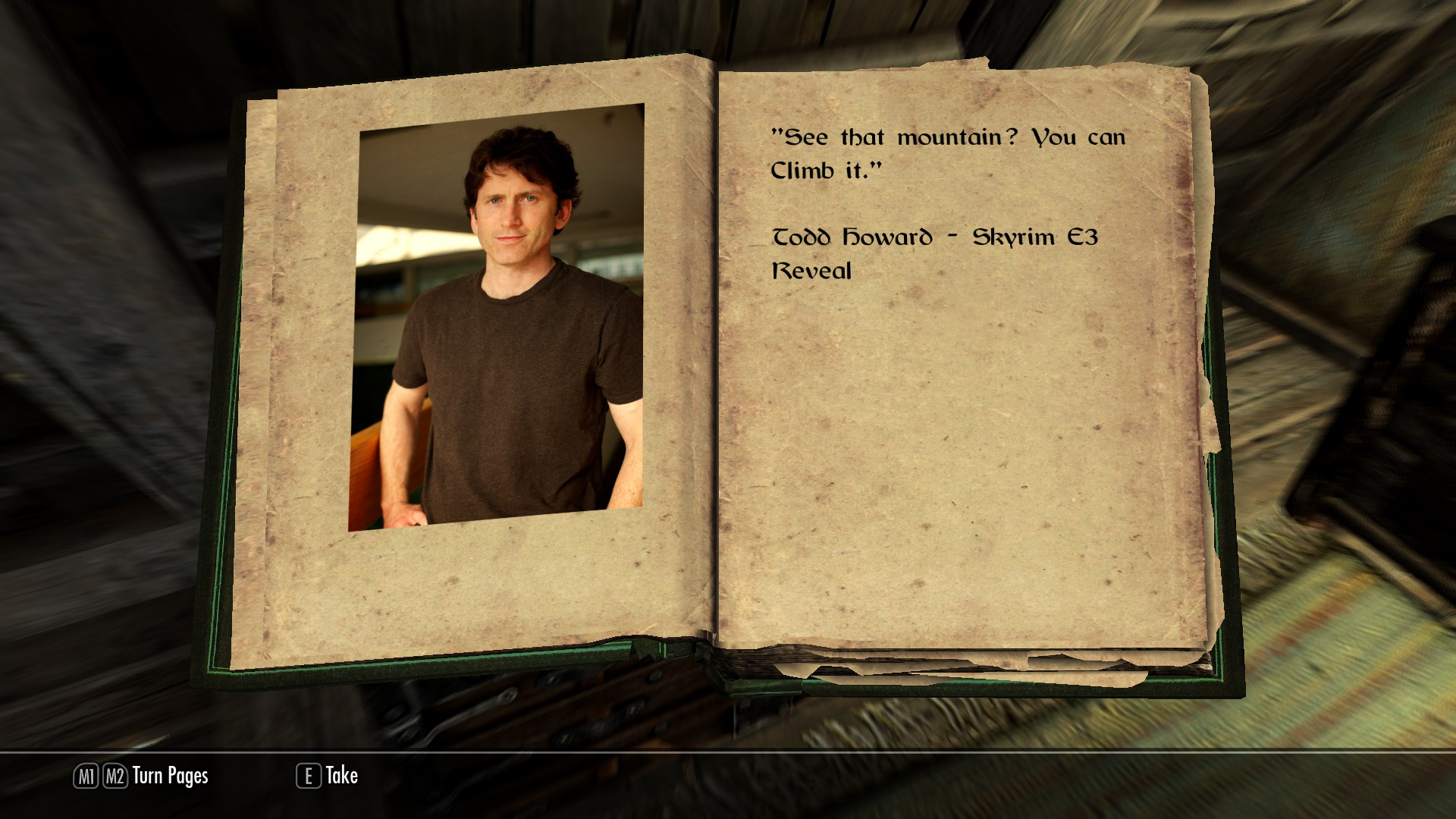 Todd Howard And The Book Of Lies At Skyrim Nexus Mods And