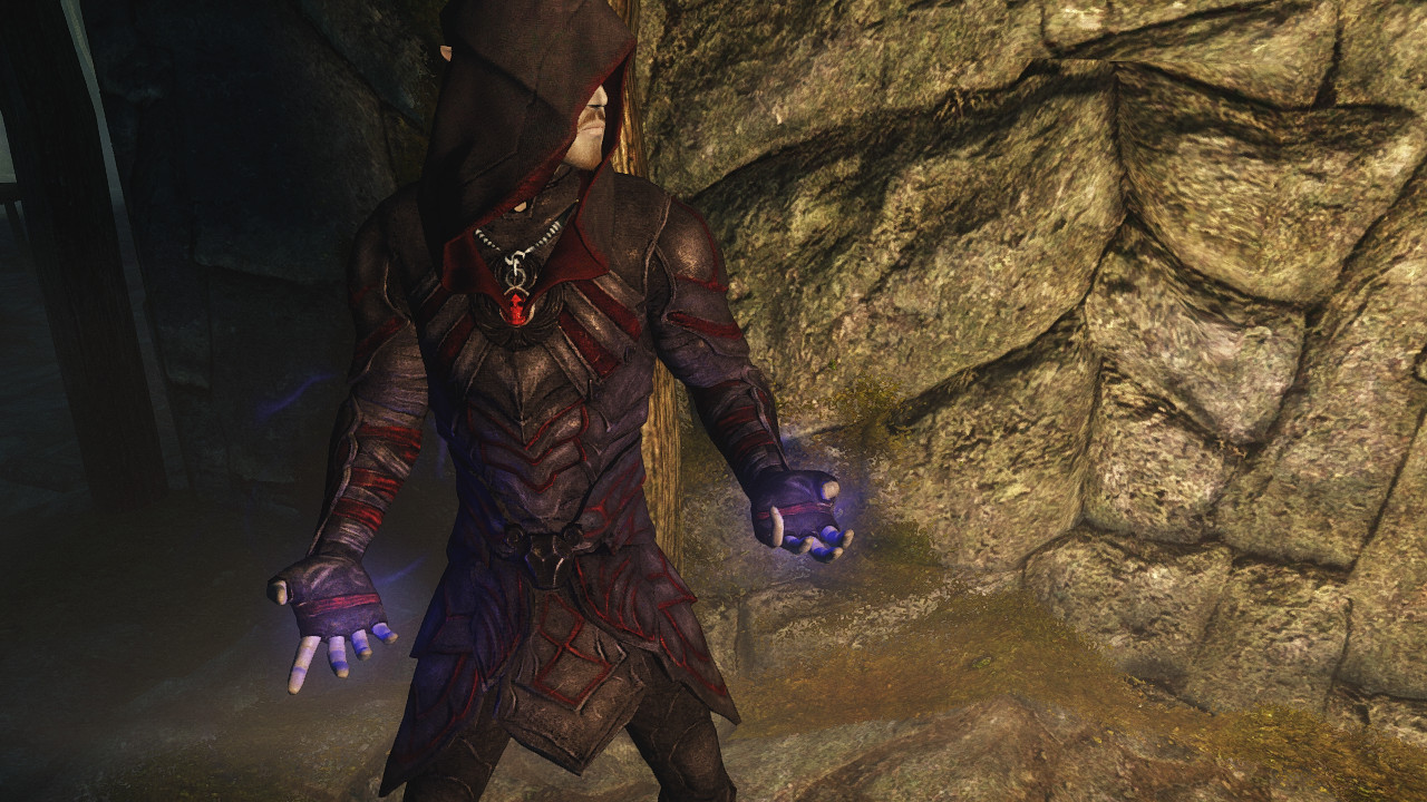red assassin armor hd by den at skyrim nexus mods and community