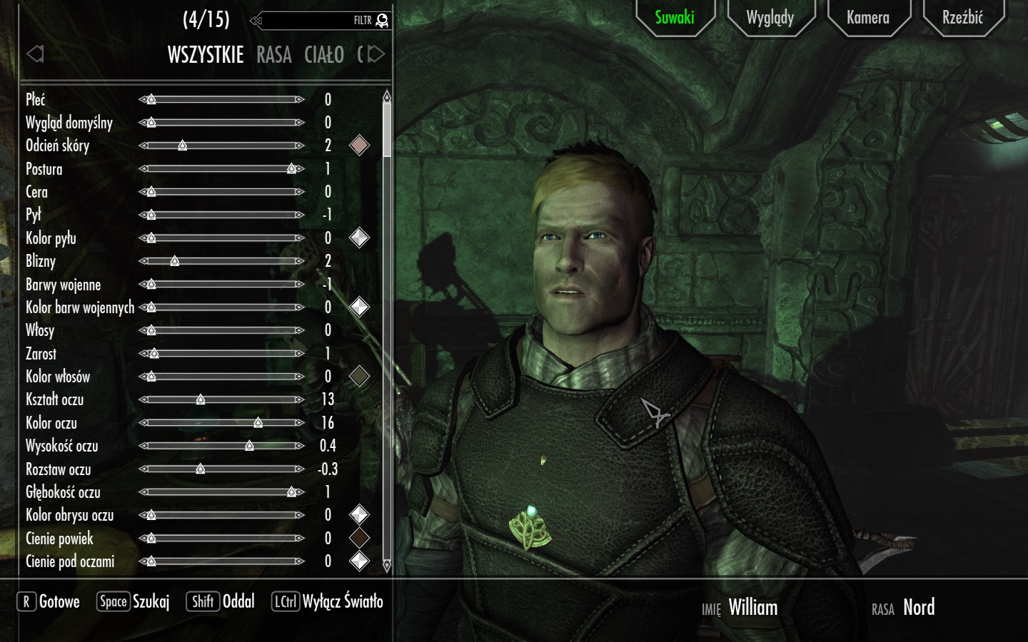 skyrim how to add a preset for a race