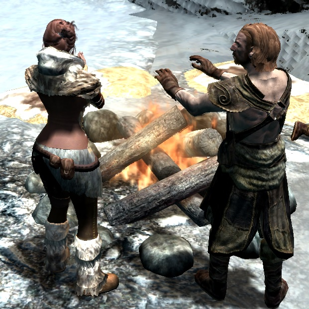 Fur Boots fem modified sliders at Skyrim Special Edition