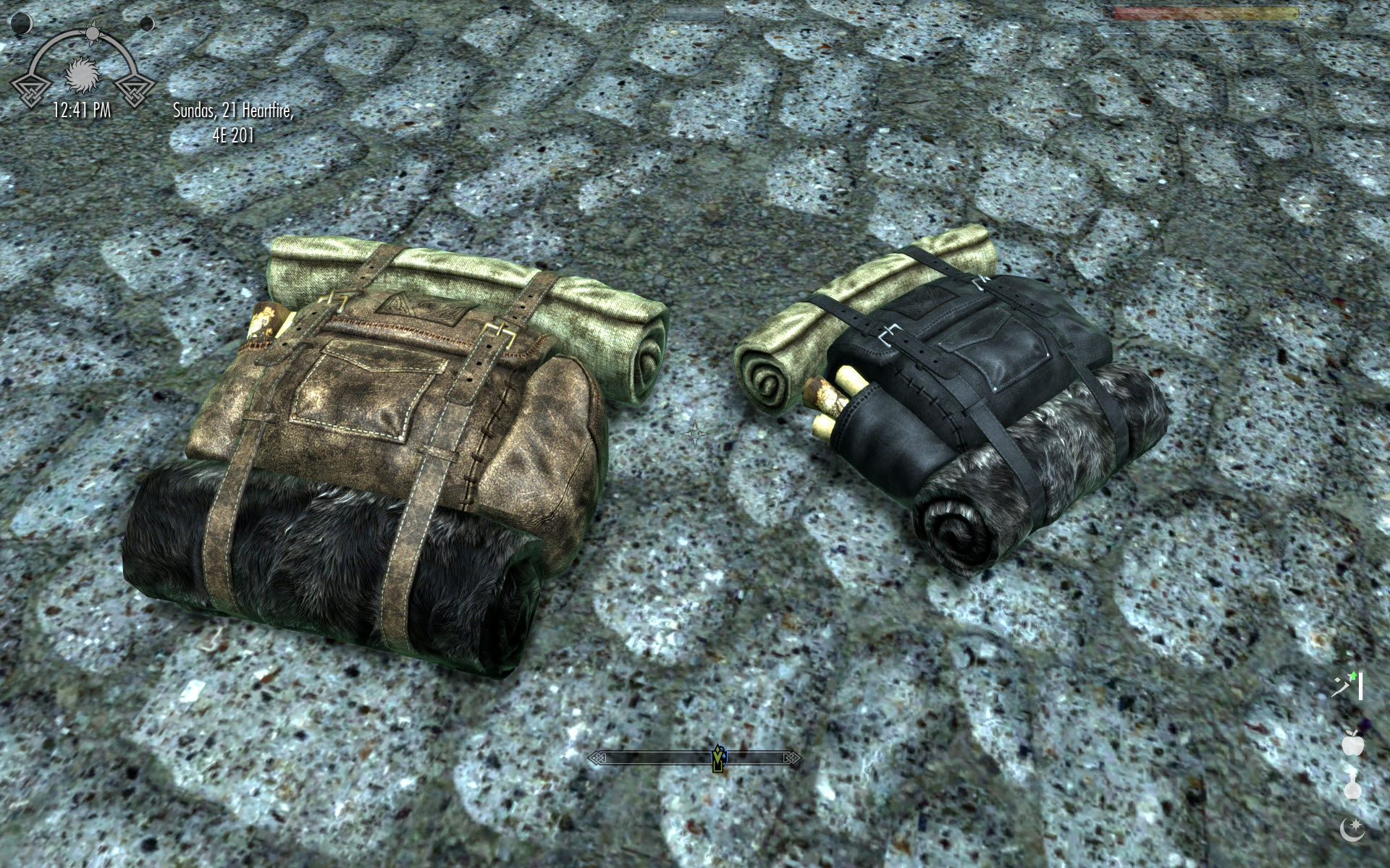 ed967b99e20d Big Leather Backpack - Translation FR at Skyrim Nexus - mods and .
