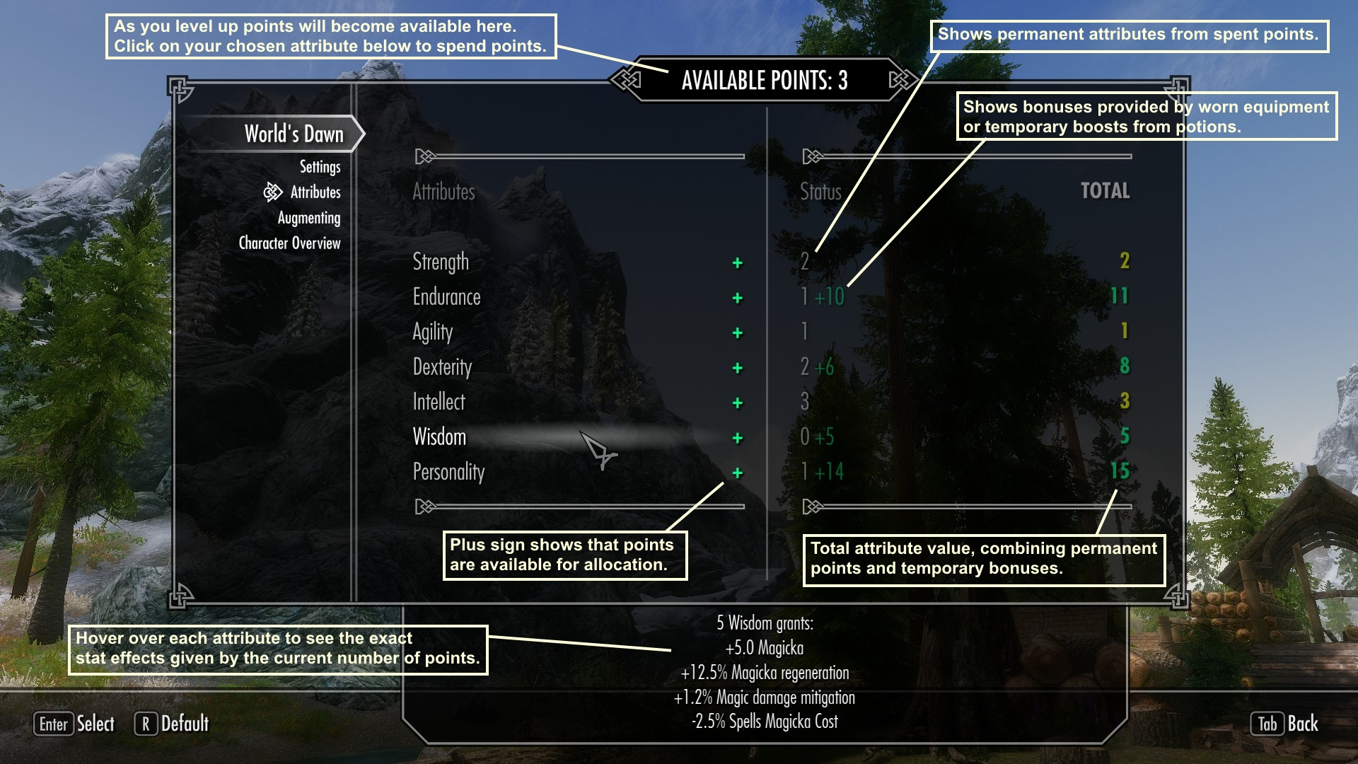 Worlds Dawn - Enchanted loot and RPG attributes in Skyrim at