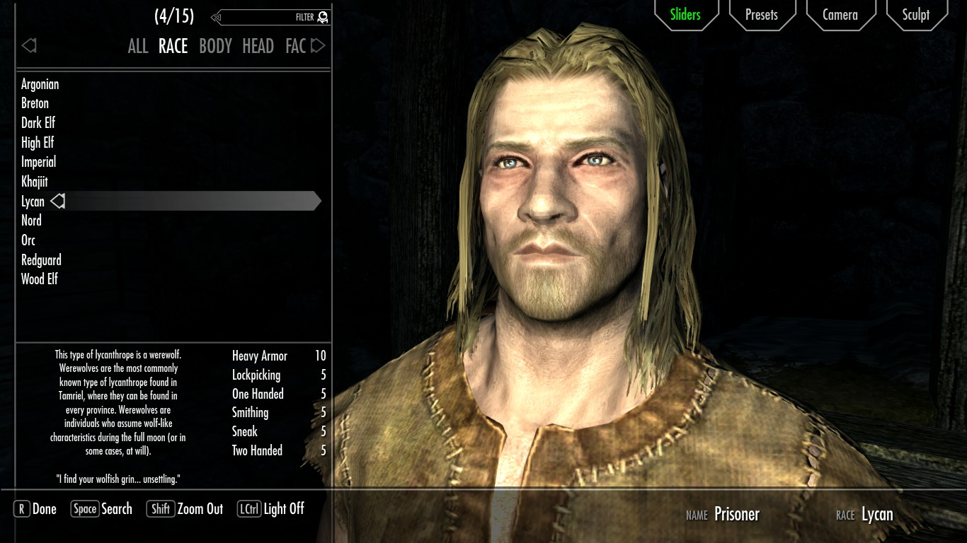 how to become a lycan in skyrim