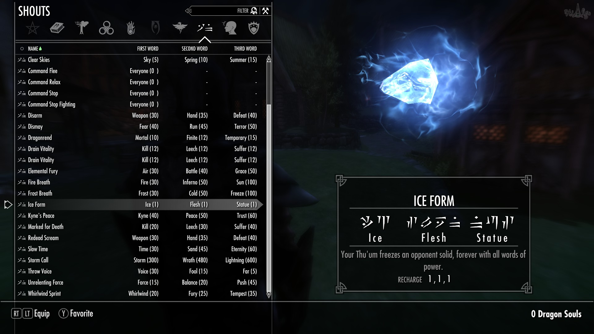 Permanent Ice Form Shout at Skyrim Nexus - mods and community