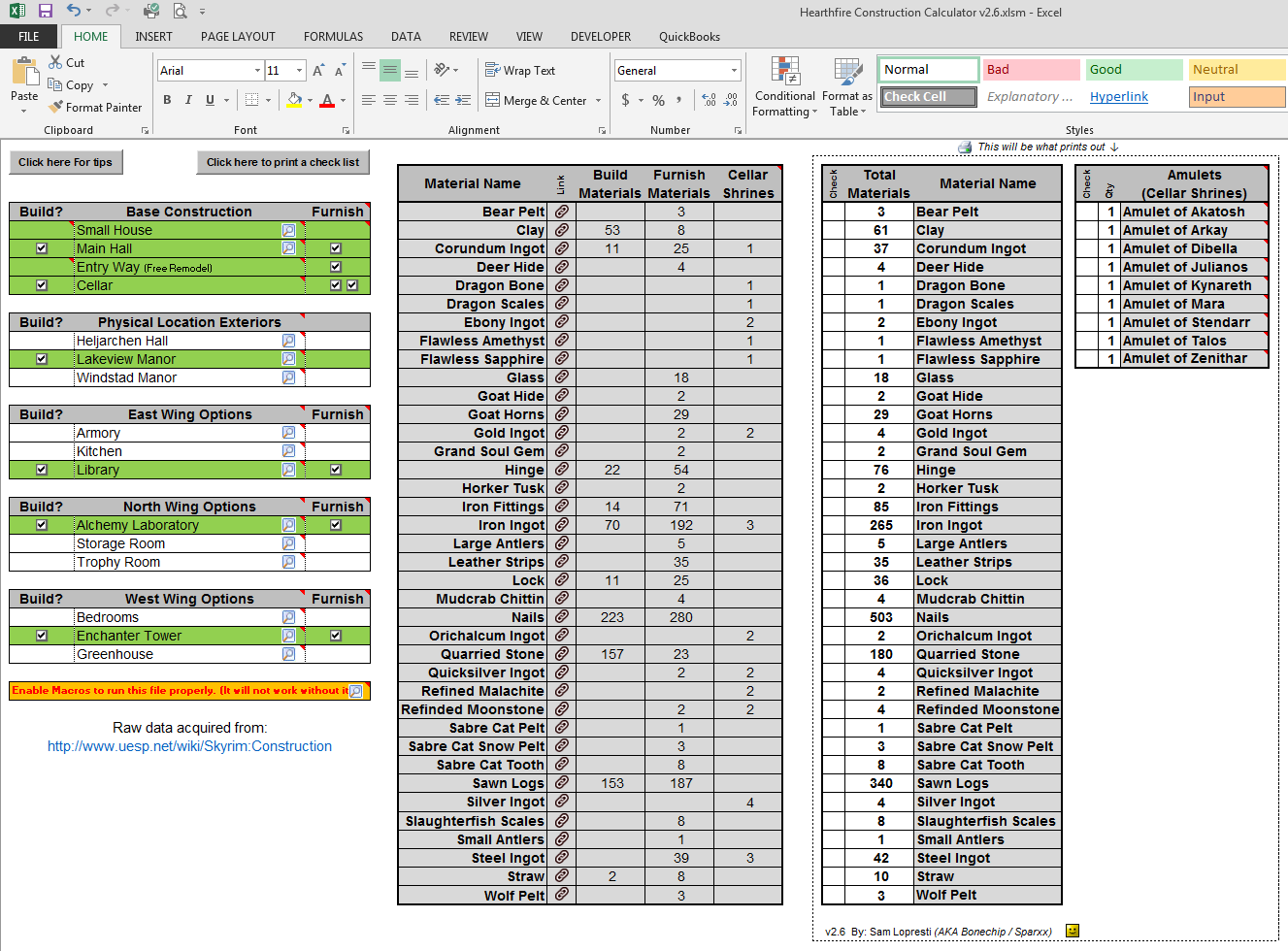 Building materials calculator excel for Building estimator