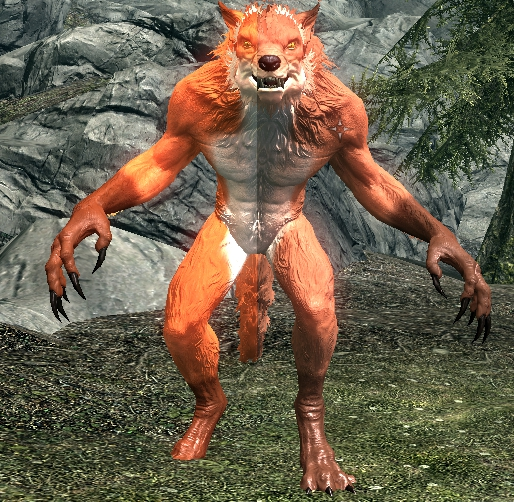 werefox werewolf recolor at skyrim nexus mods and