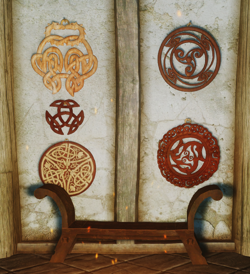 Nordic carving wallbaskets at skyrim nexus mods and