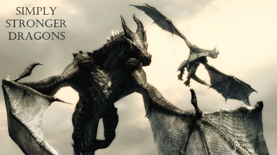 Simply Stronger Dragons (SSD) SE at Skyrim Special Edition