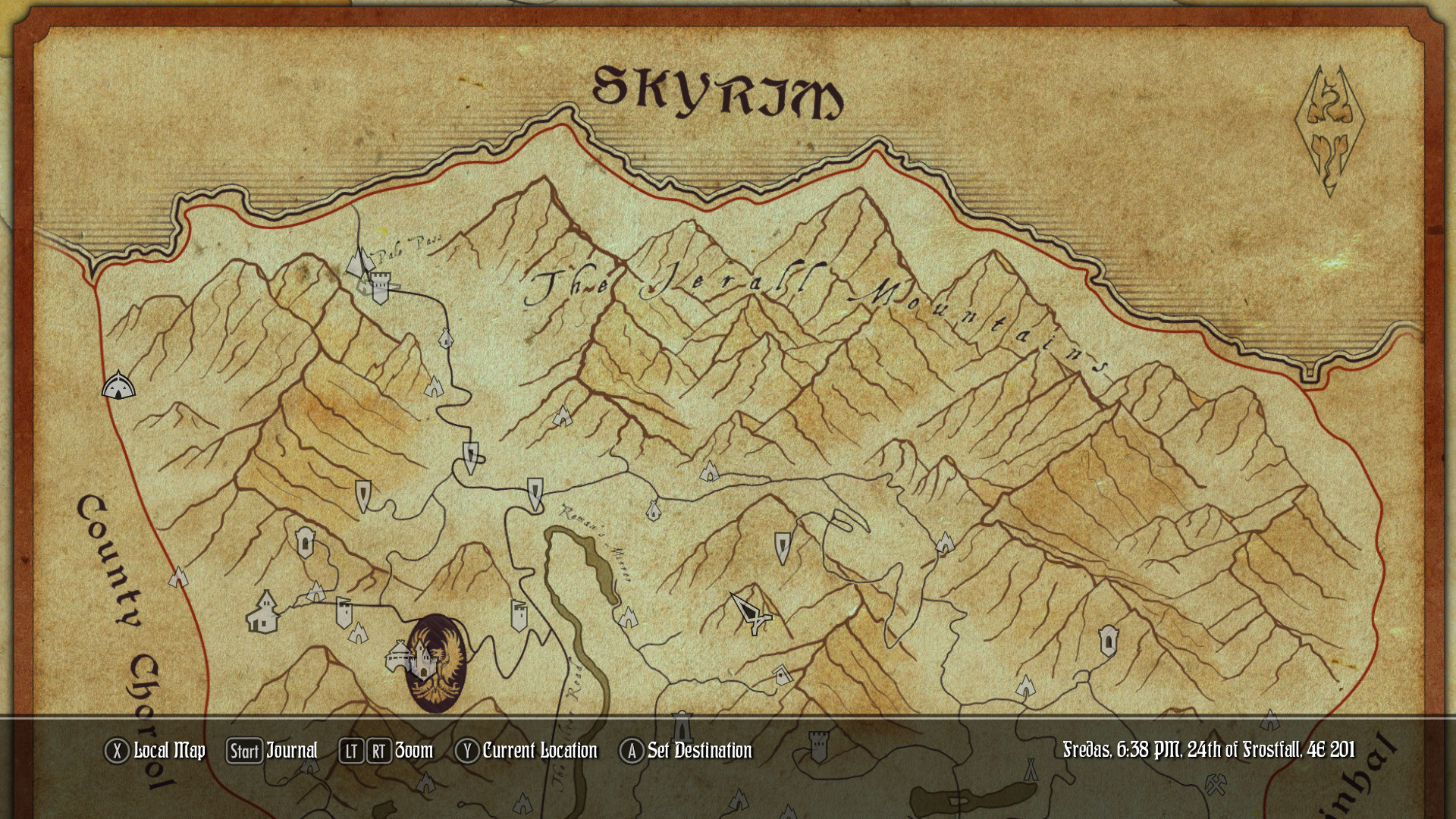 Paper World Map for Beyond Skyrim: Bruma : skyrimmods