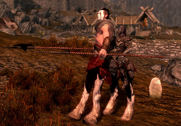 Somewhere in Skyrim there's a centaur running around without its ...
