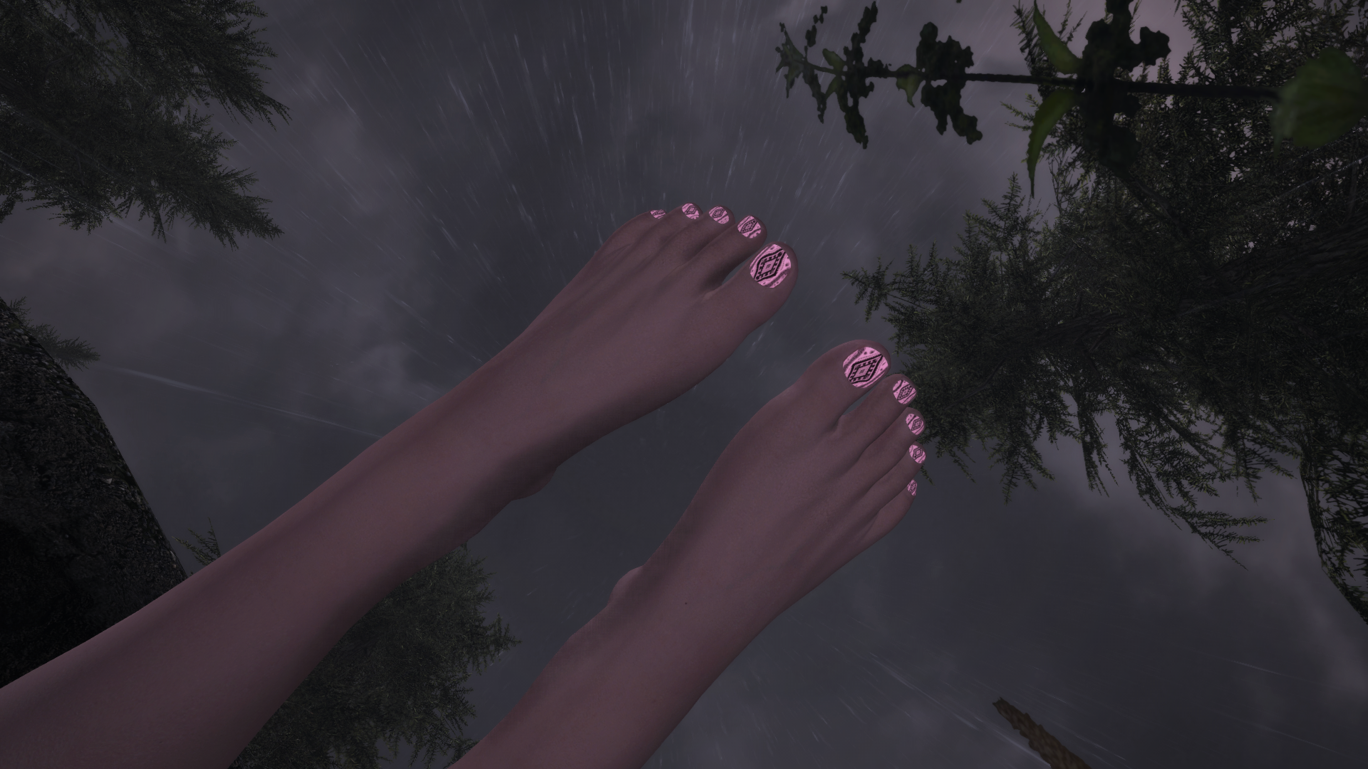 ZMDs Feet Nail Texture Overlays For Race Menu CBBE HD-Any