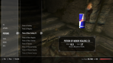Lesser Potions Replacer - RedBull Sprite White Claw