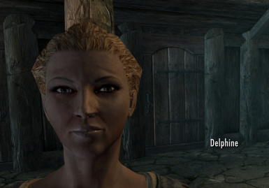 Delphine with Living Eyes