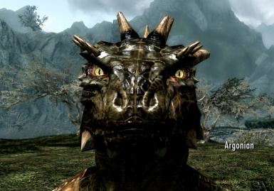 An Argonian with Living Eyes