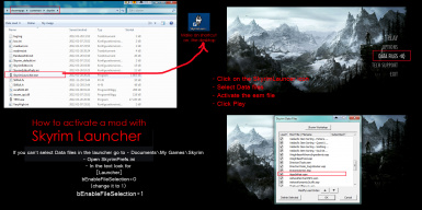 How to activate the mod in SkyrimLauncher