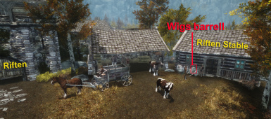 Location of free wigs for helmets  Riften Stable