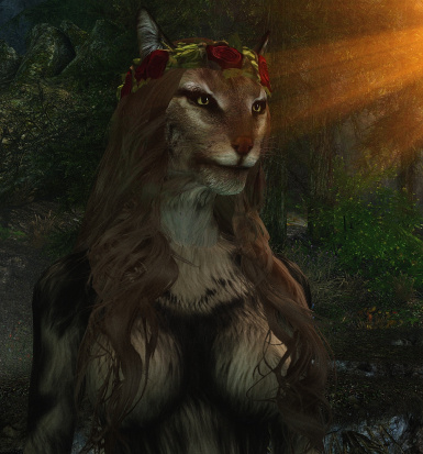 Helga flower hair for Khajiit coming next update