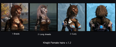 Hair chart Female Khajiit hairs v_1_2