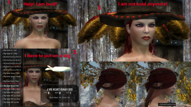 Female Wigs for helmet and hats v_1_0