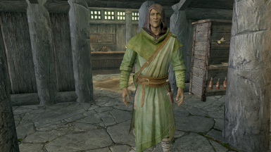 Here Nelacar wears apprentice alteration robes and has something weird happen with his eyes