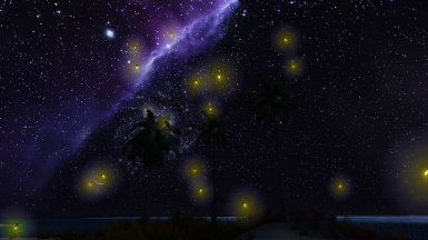 SEverで蛍などの光具合を変えたMODを導入した時の画像 Image when MOD that changed the light condition such as fireflies in SEver