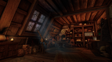 Astronomer's Loft -- Small Loft Library Player Home in Whiterun