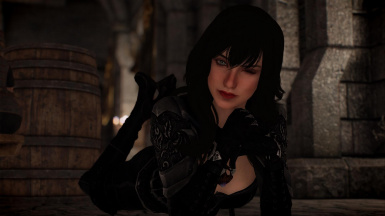 Winking at you. Dialogue support for the Lustmord armor is added by this mod through an optional patch.