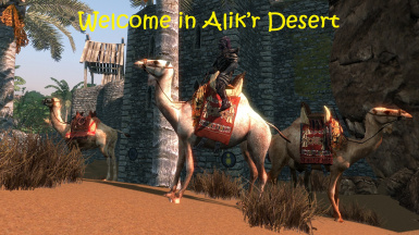 Camels and new animals in Alik'r Desert (Hammerfell)