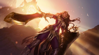 Leona the Radiant Dawn armor and sword Retexure - League of Legends